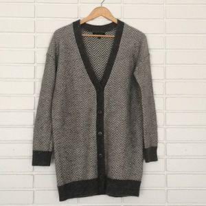 Banana Republic Long Grey Cardigan Sweater